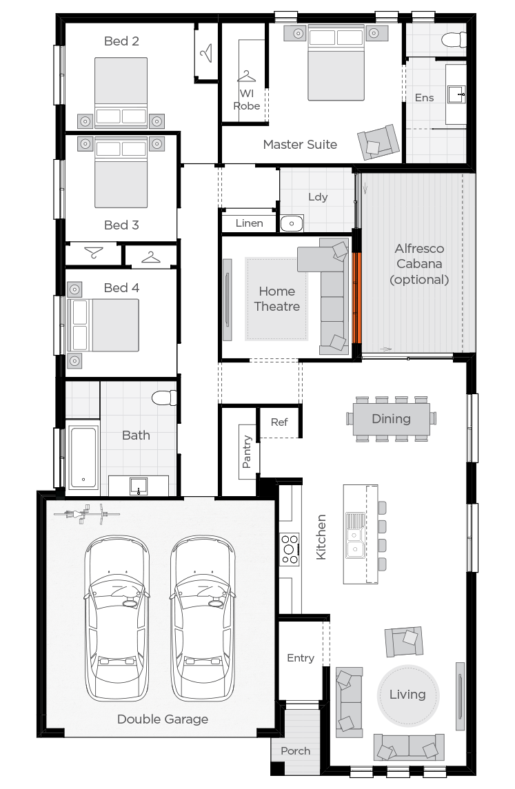 Arcadia floorplan rhs