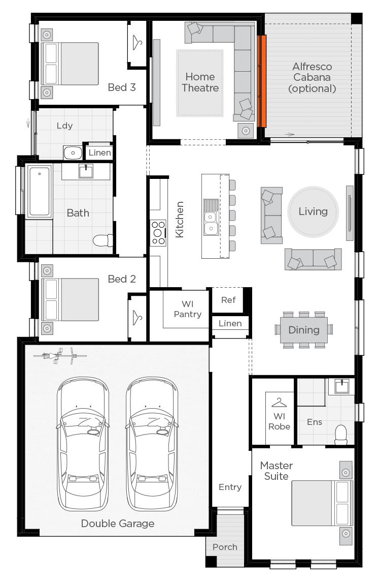 Albany floorplan lhs