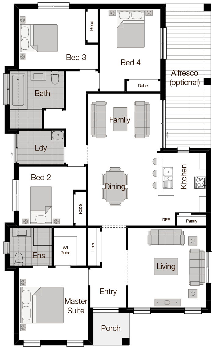 Amalfi Floor Plan - Wilson Homes