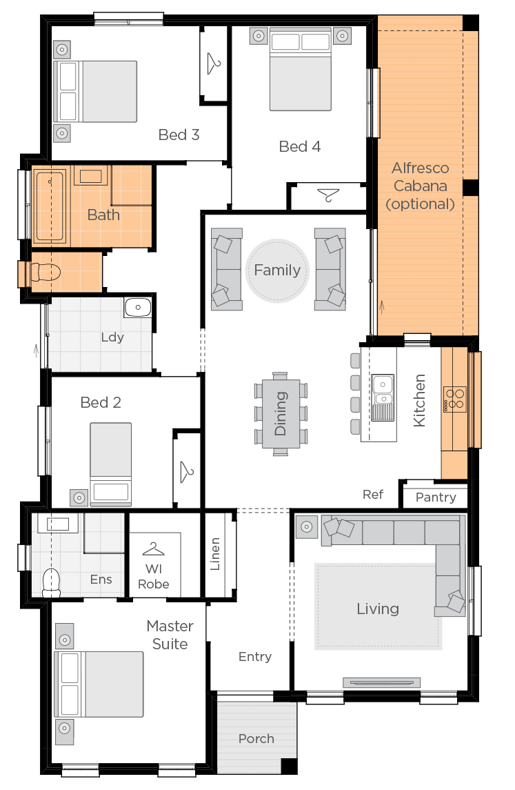Amalfi upgrade floorplan lhs
