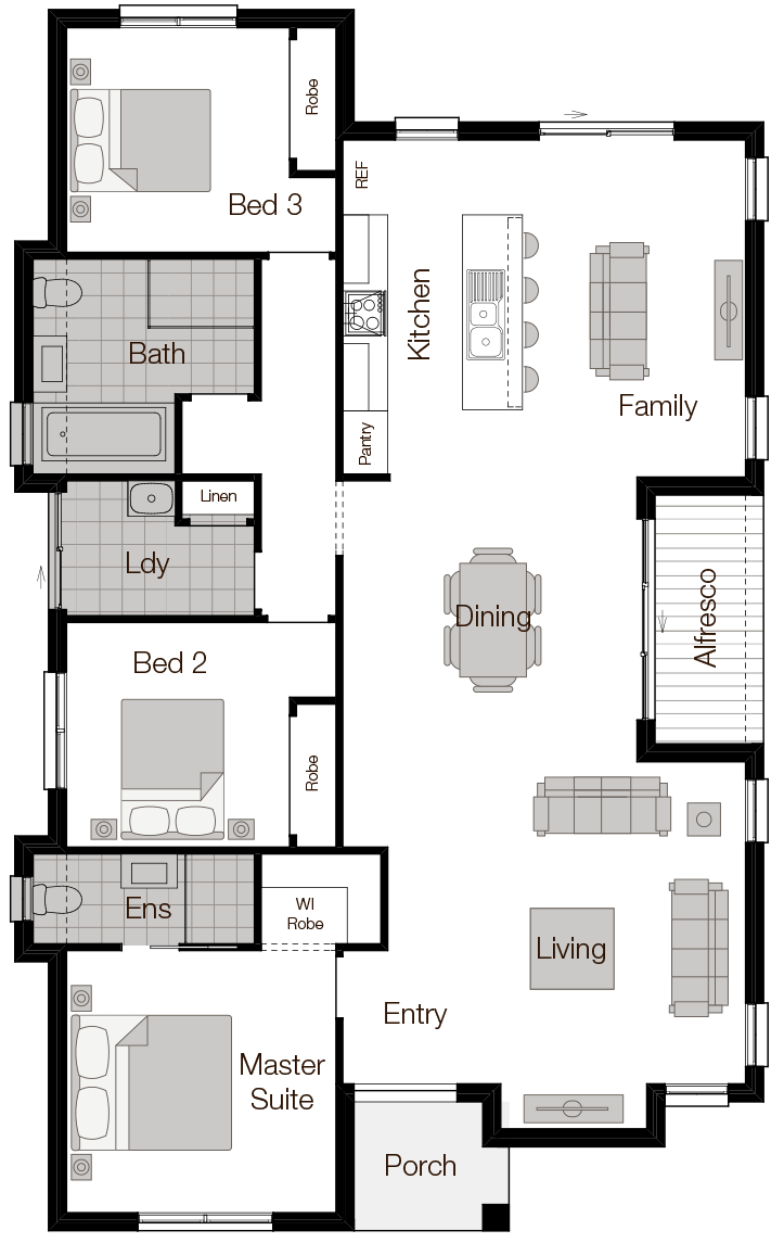 Barcelona One - Single Storey Floor Plan - Wilson Homes