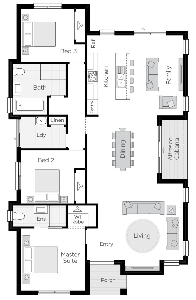 Barcelona One floorplan lhs