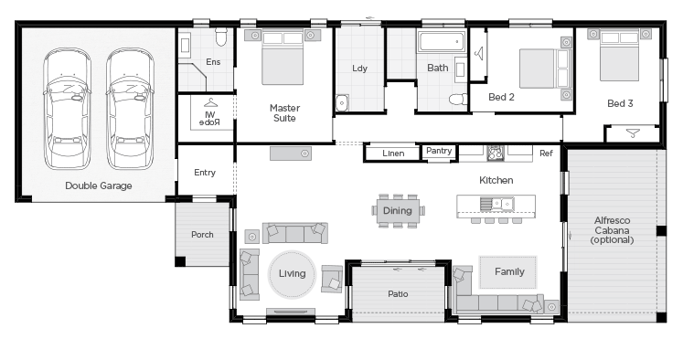 Barcelona Two floorplan lhs