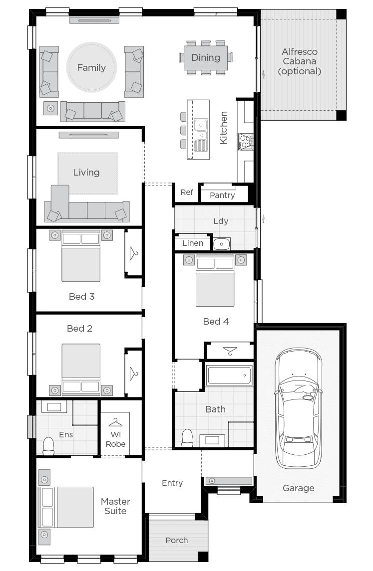 Boronia One floorplan lhs