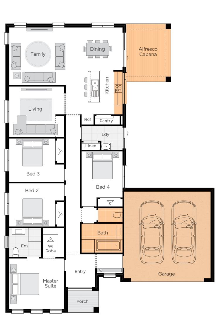 Boronia One Upgrade floor plan lhs