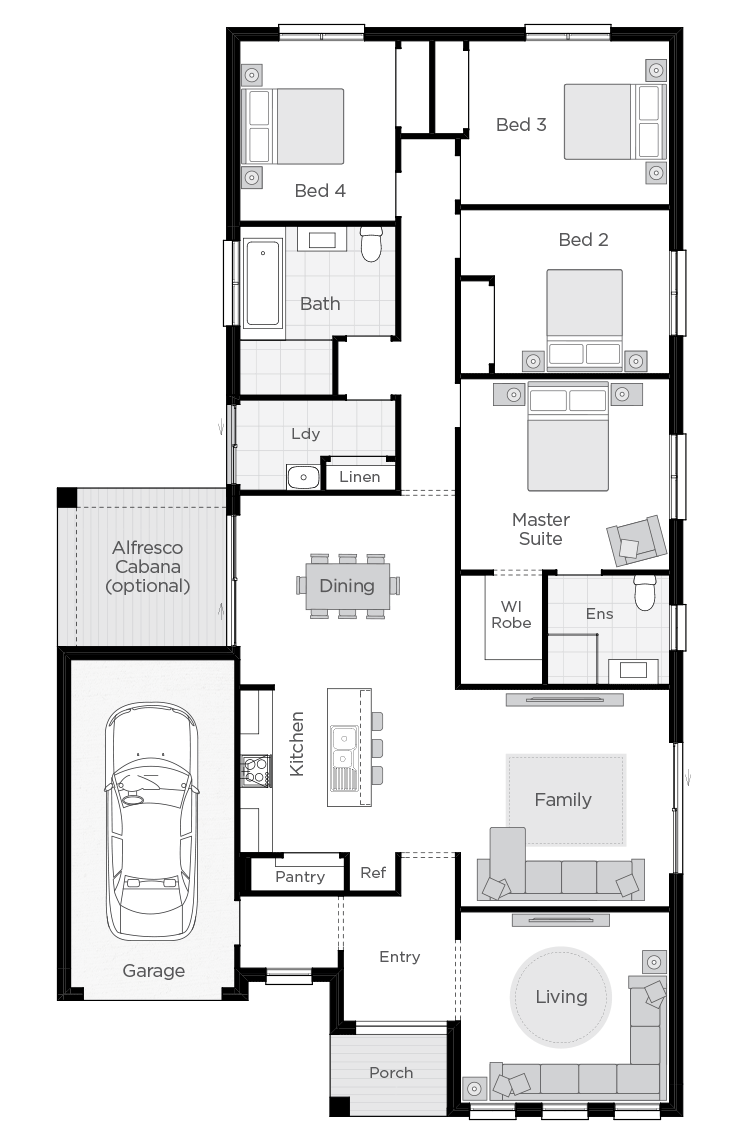Boronia two floorplan lhs