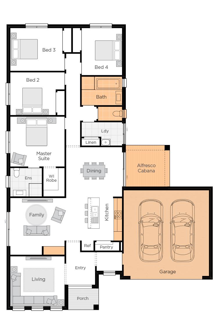 Boronia Two Upgrade floor plan lhs
