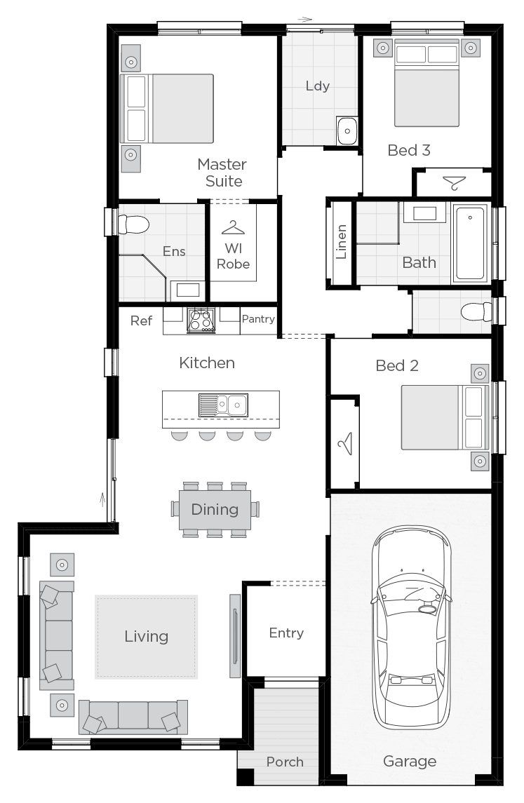 Corsica floorplan rhs