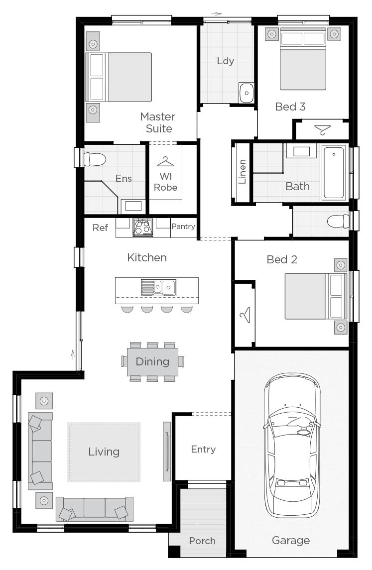 Corsica floorplan lhs