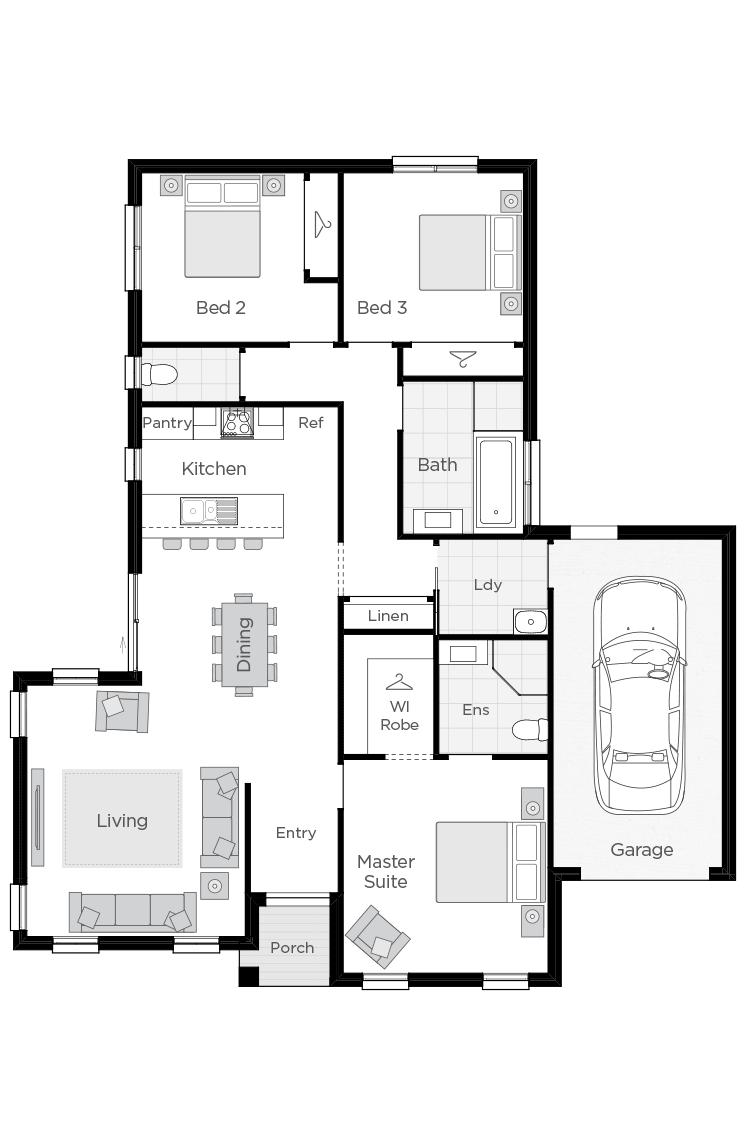 Positano floorplan lhs
