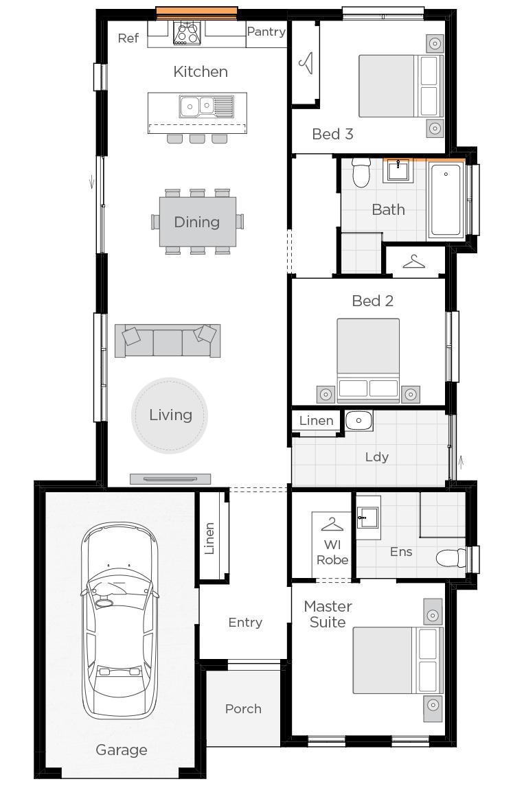 Seville upgrade floorplan lhs