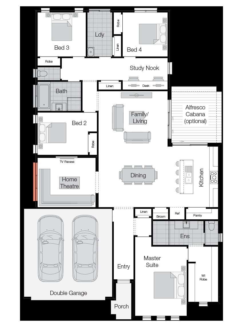 Belvedere- Single Storey Floor Plan-Wilson Homes