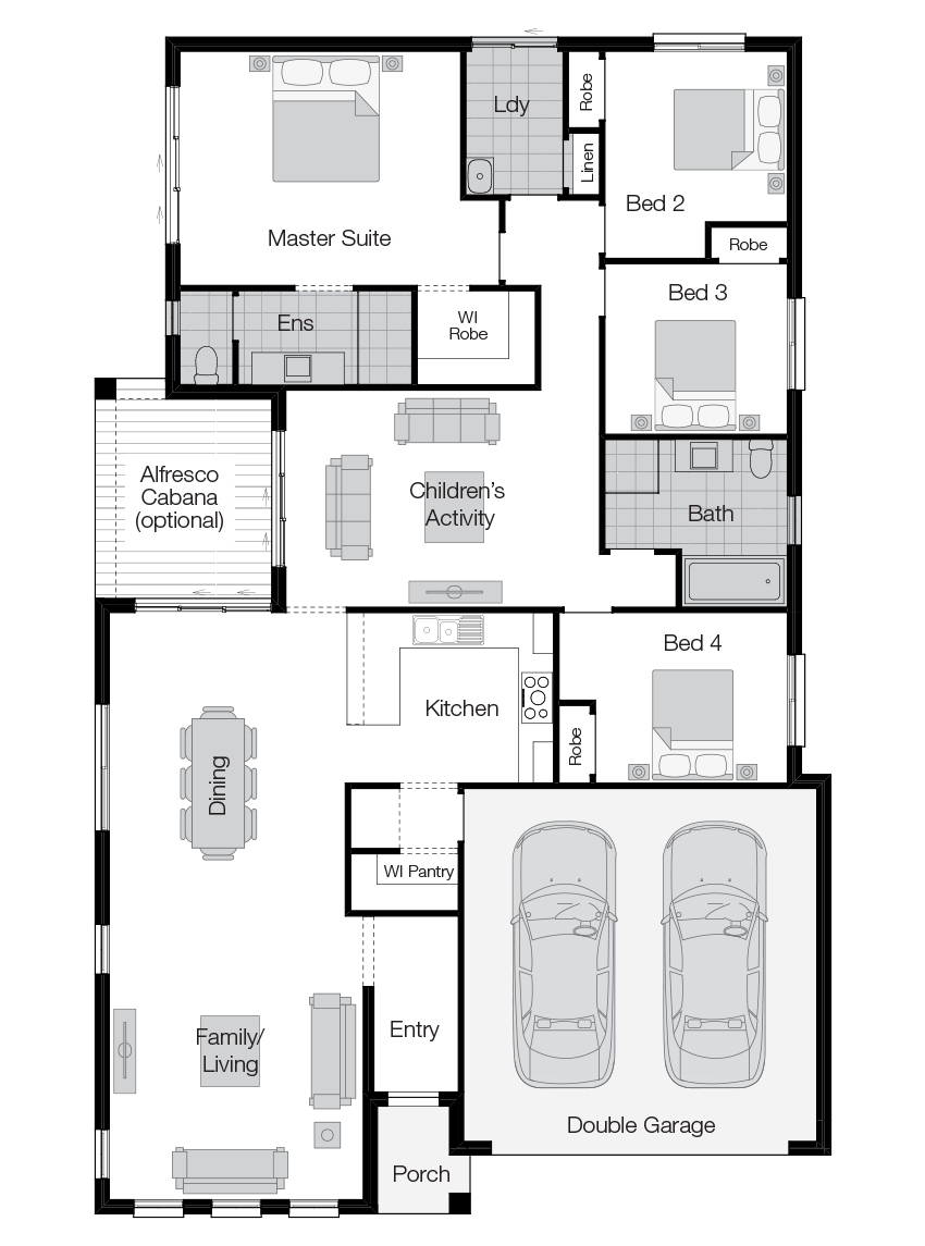 Essington- Single Storey Floor Plan-Wilson Homes