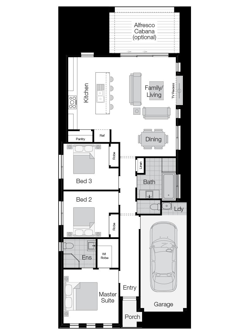 Hamilton- Single Storey Floor Plan-Wilson Homes