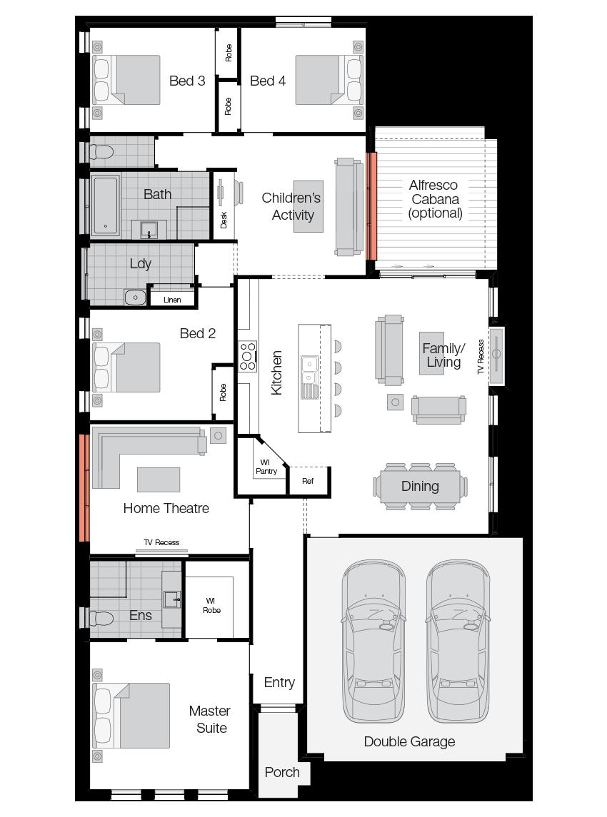 Havana- Single Storey Floor Plan-Wilson Homes