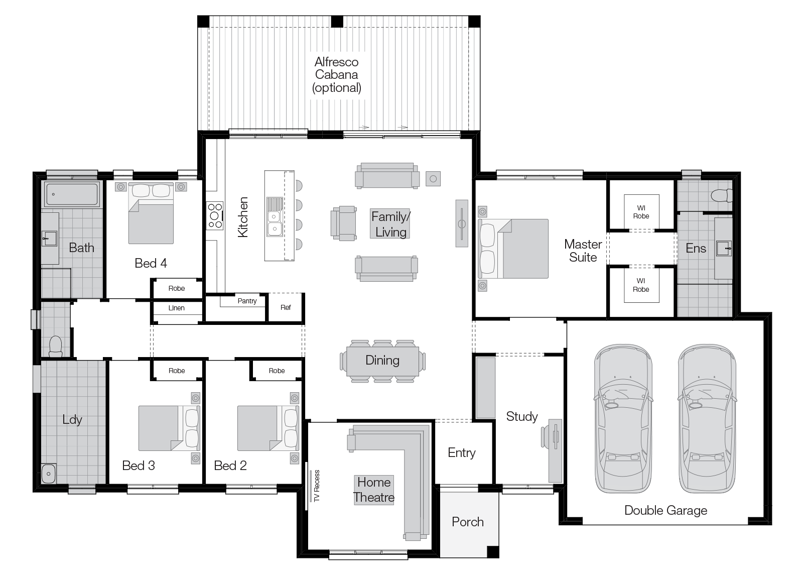 Lyndhurst- Single Storey Floor Plan-Wilson Homes