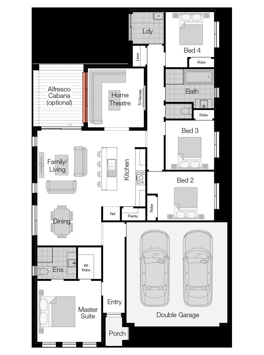 Neo- Single Storey Floor Plan-Wilson Homes