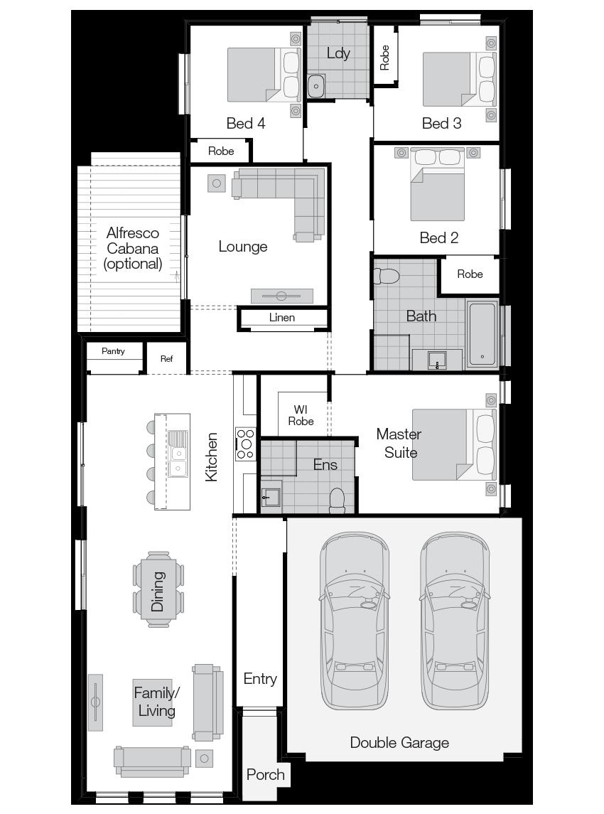 Parkroyal- Single Storey Floor Plan-Wilson Homes