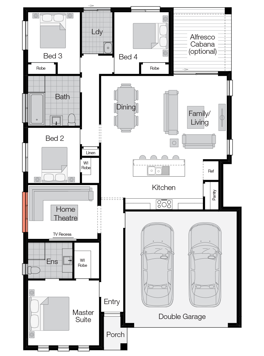Sierra- Single Storey Floor Plan-Wilson Homes