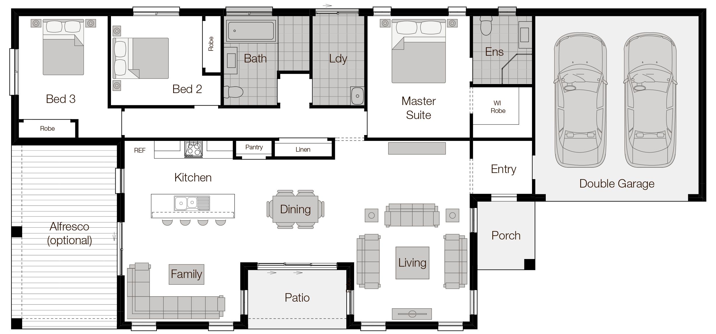 Barcelona-two-Single Storey Floor Plan-Wilson Homes