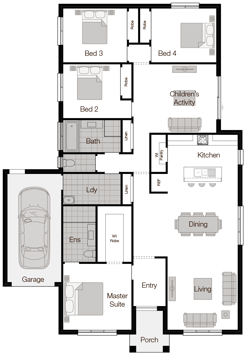 Bordeaux - Single Storey Floor Plan - Wilson Homes