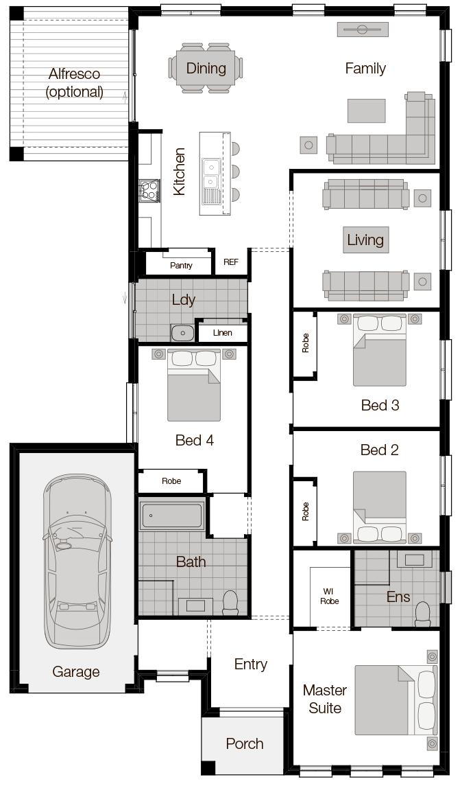 Boronia One-Single Storey Floor Plan-Wilson Homes