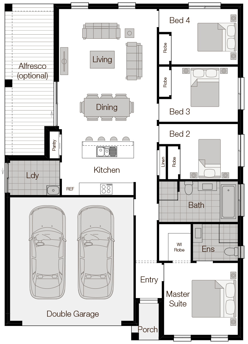Levante-Single Storey Floor Plan - Wilson Homes