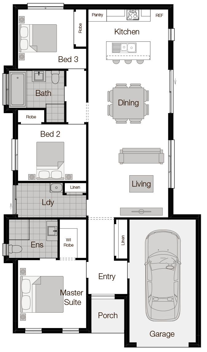 Seville-Single Storey Floor Plan-Wilson Homes
