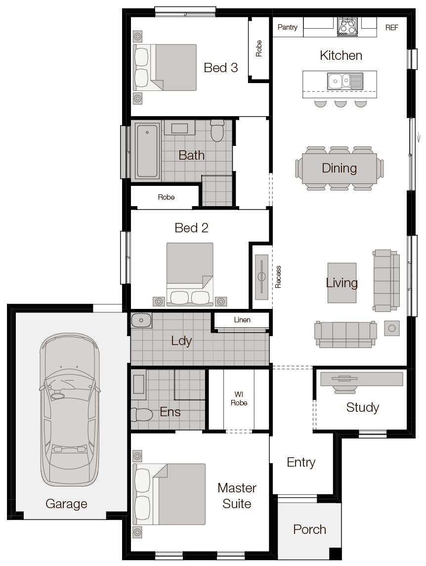 Vienna-Single Storey Floor Plan-Wilson Homes