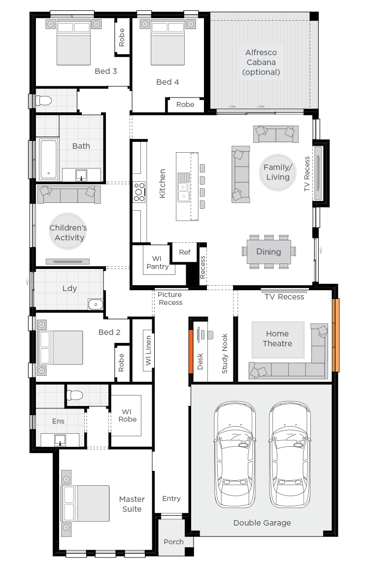St Tropez 4 Bedroom Home Design Nextgen Portfolio Wilson Homes