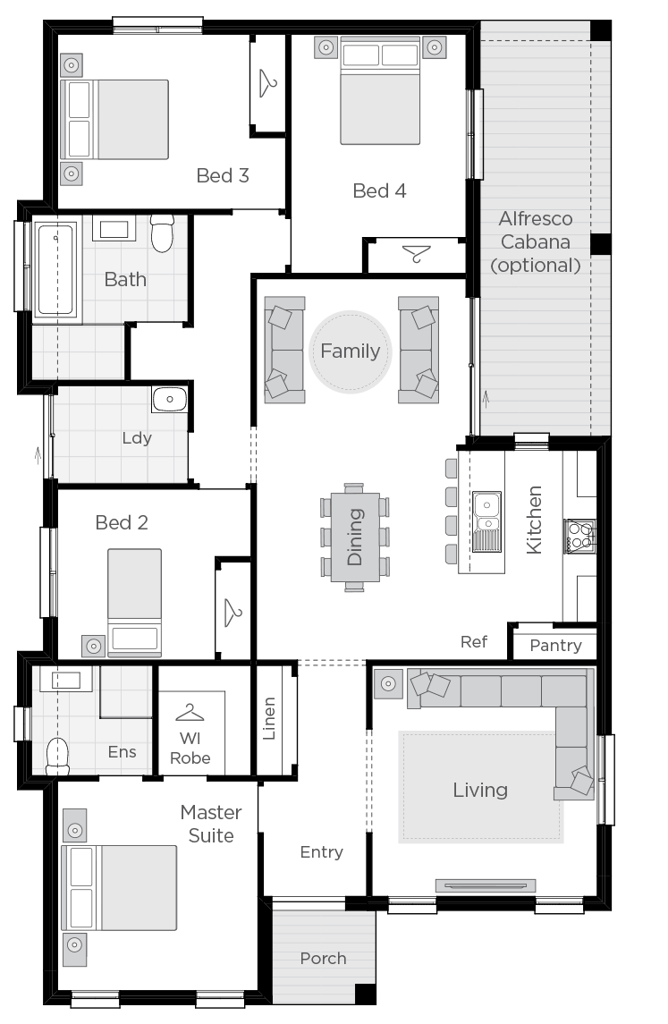 Amalfi upgrade floorplan rhs