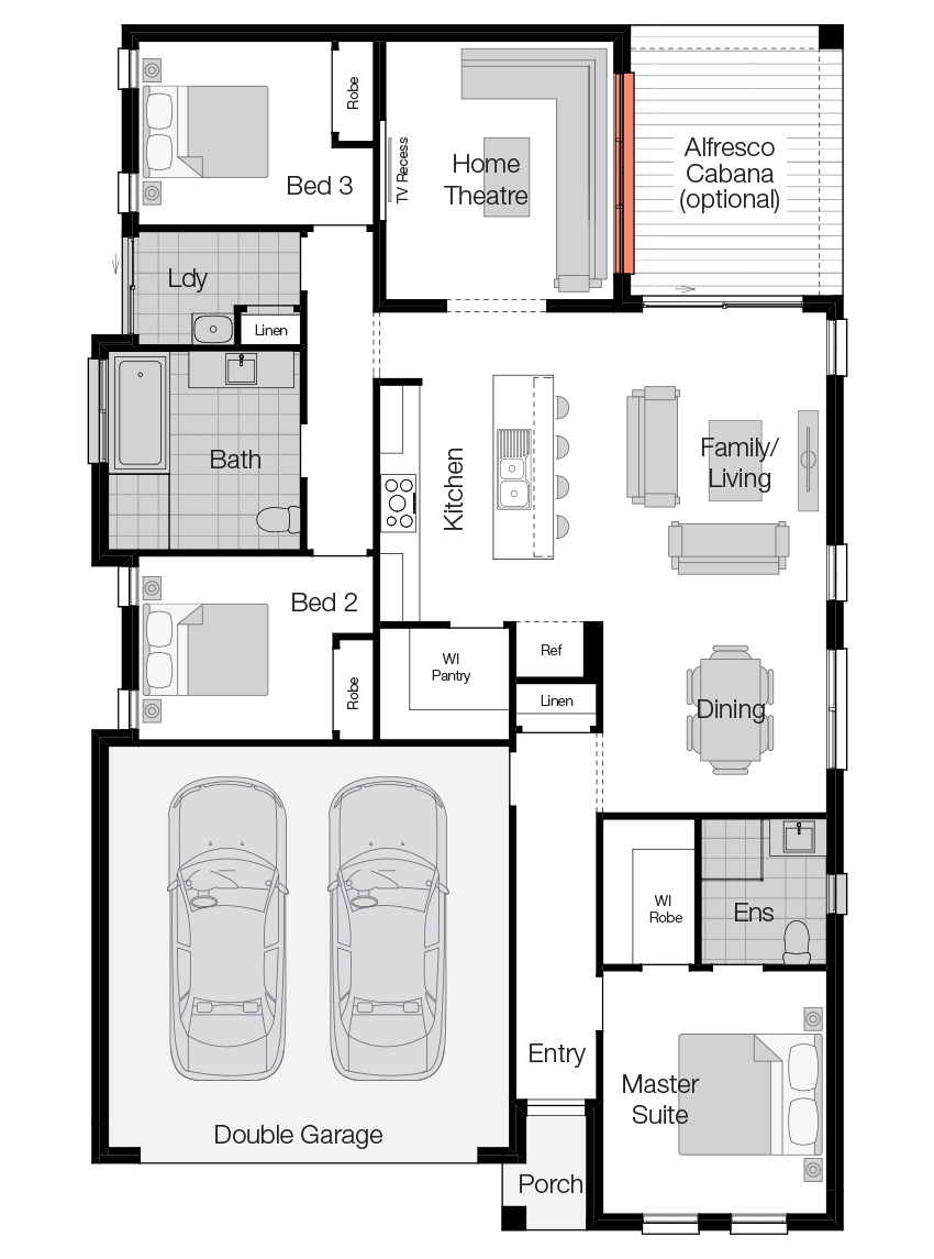 Albany- Single Storey Floor Plan-Wilson Homes