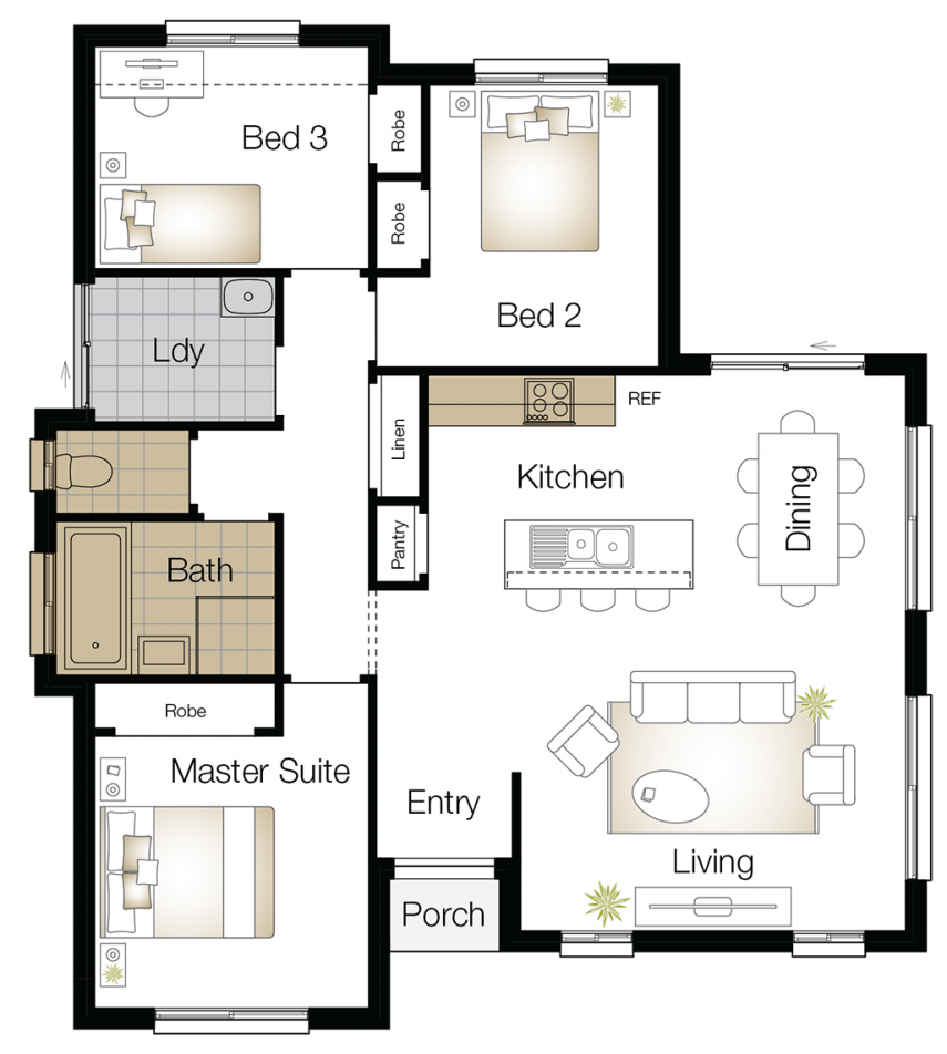 Monash One – Single Storey Floor Plan Upgrade - Wilson Homes
