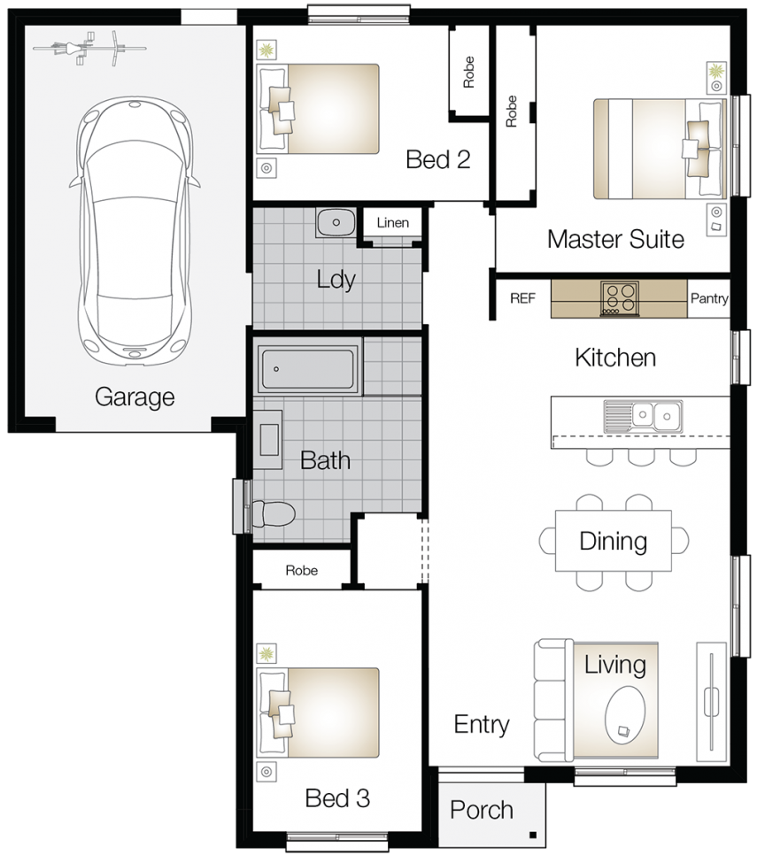 Northumberland – Single Storey Floor Plan Upgrade - Wilson Homes