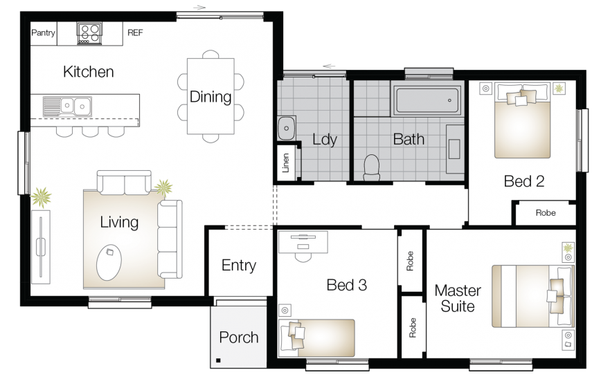 Vasey – Single Storey Floor Plan - Wilson Homes