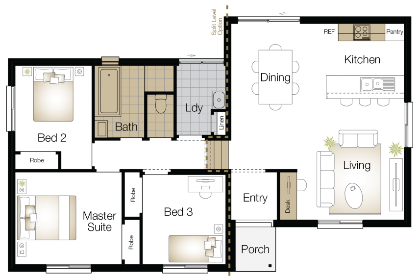Vasey - Single Storey Floor Plan - Upgrade - Wilson Homes
