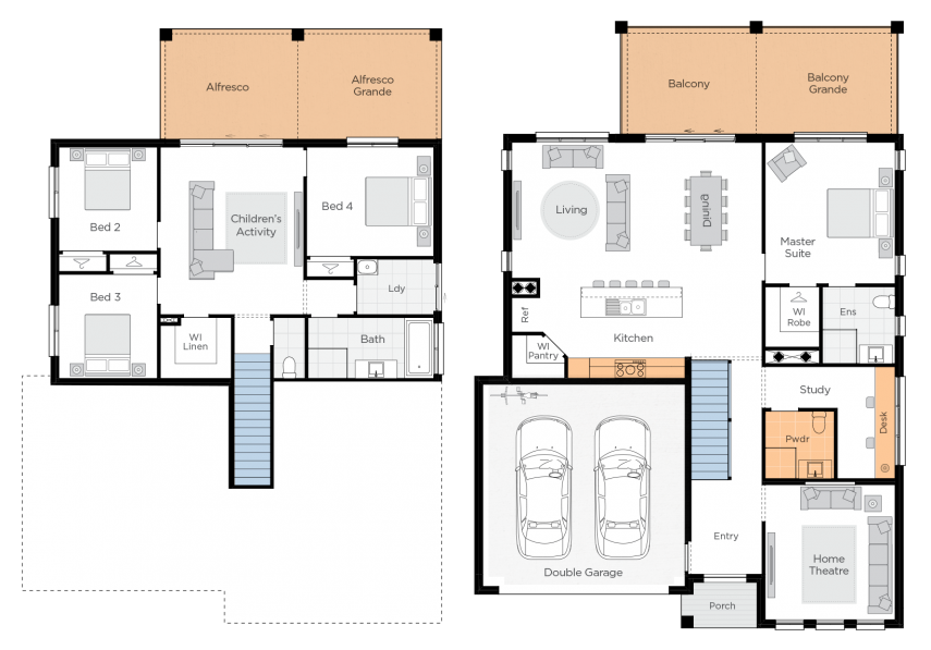 Freshwater Two Upgrade floorplan rhs
