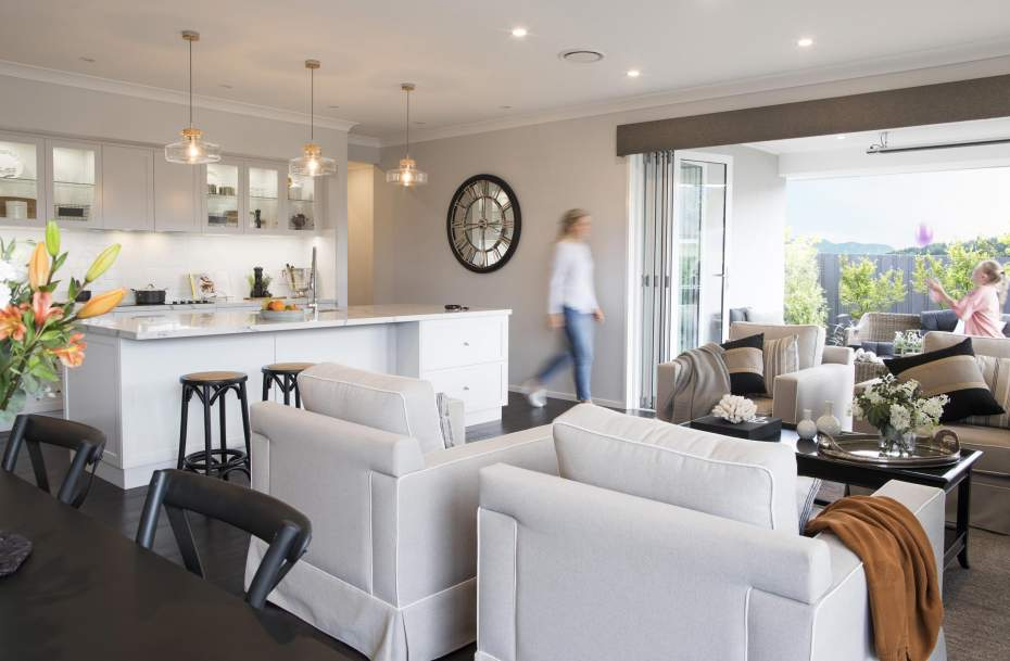 Family room - St Tropez Home Design by Wilson Homes
