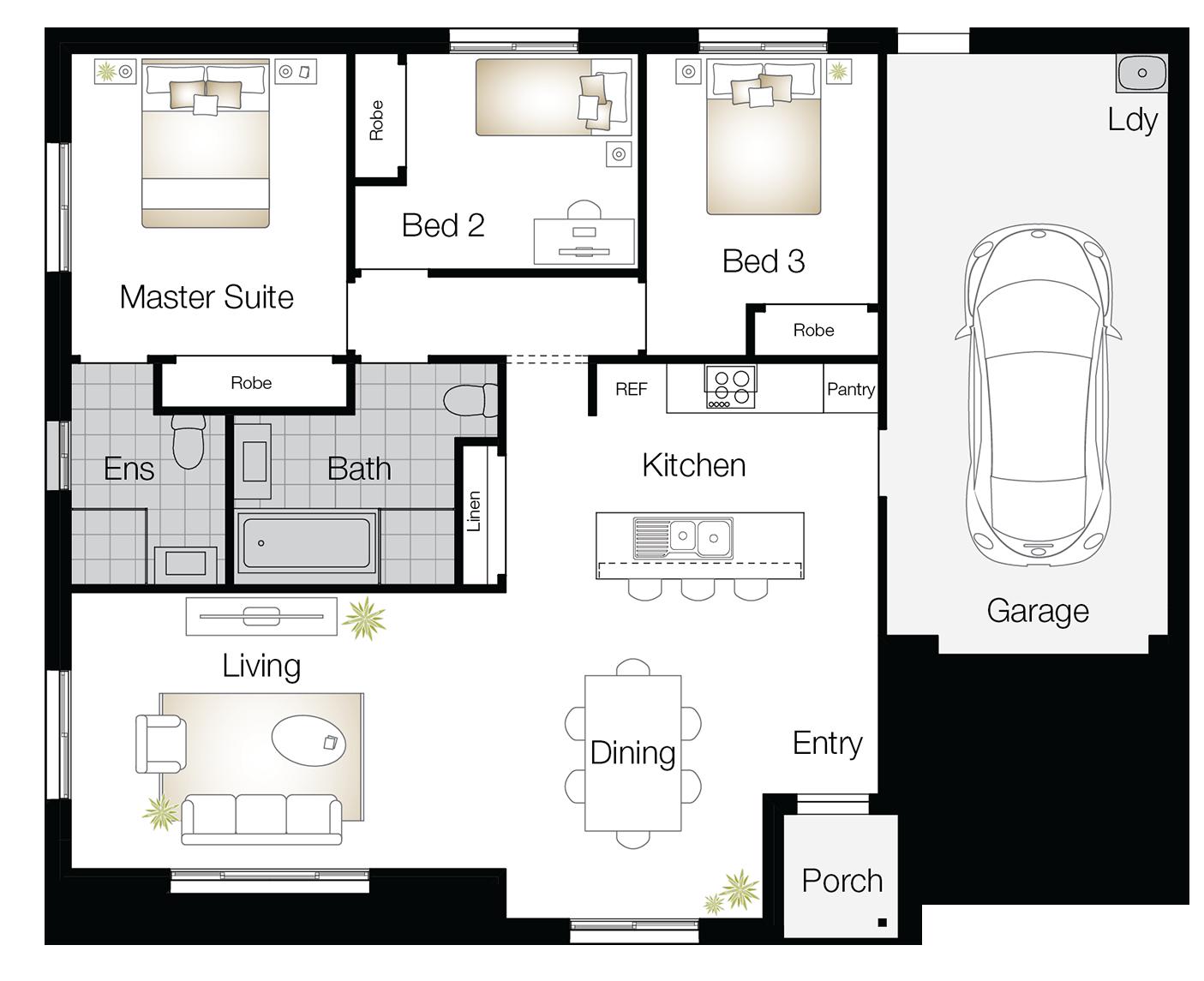Crestwood - Single Storey Floor Plan - Wilson Homes