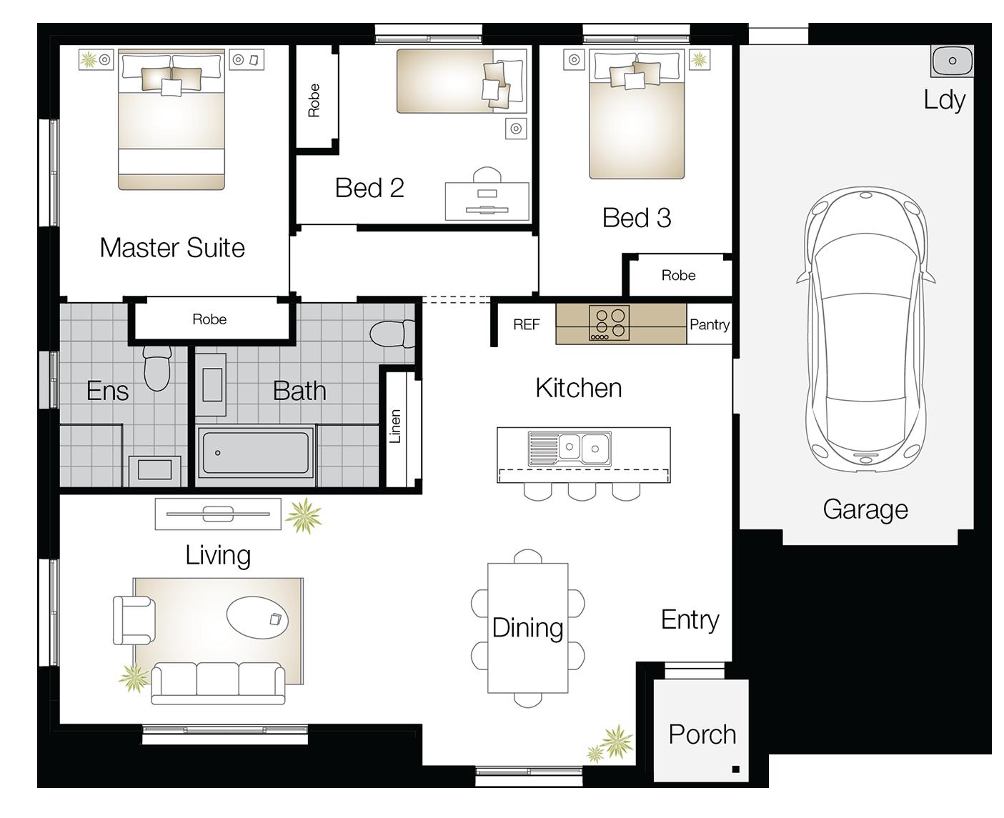 Crestwood – Single Storey Floor Plan Upgrade - Wilson Homes