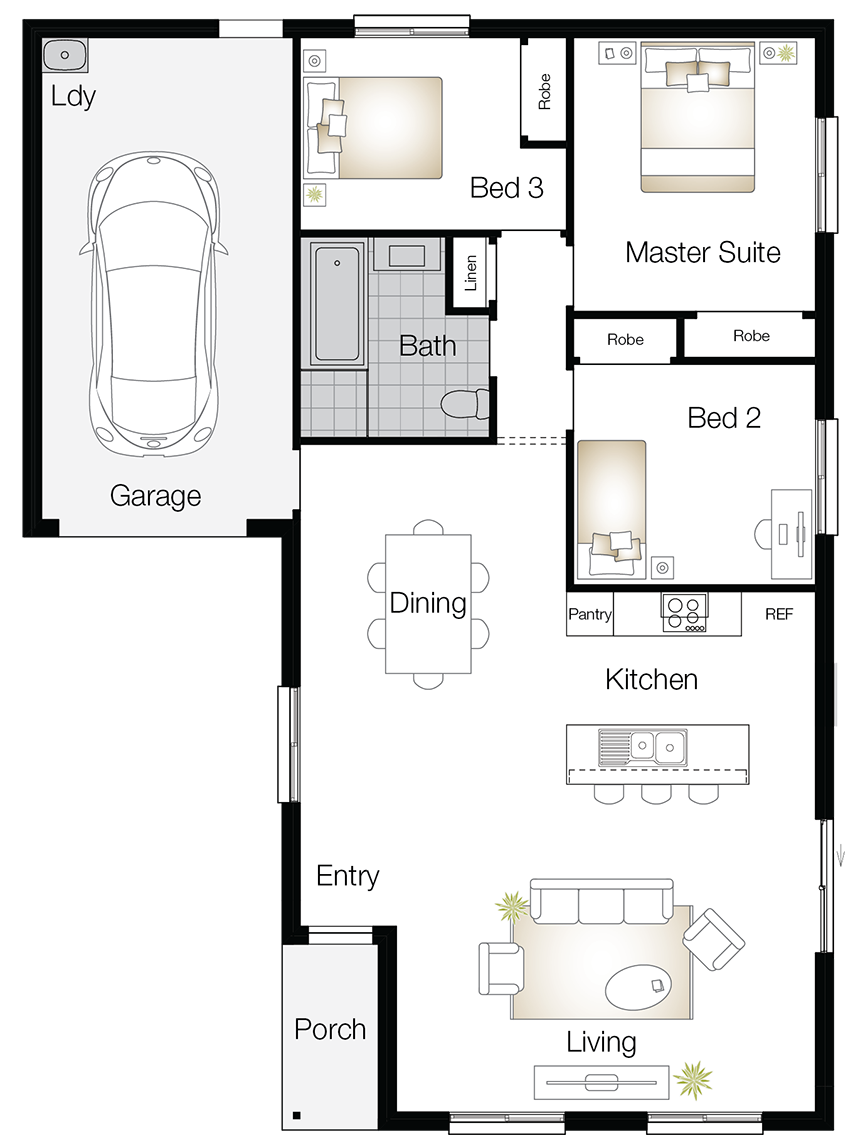 Highbury – Single Storey Floor Plan - Wilson Homes