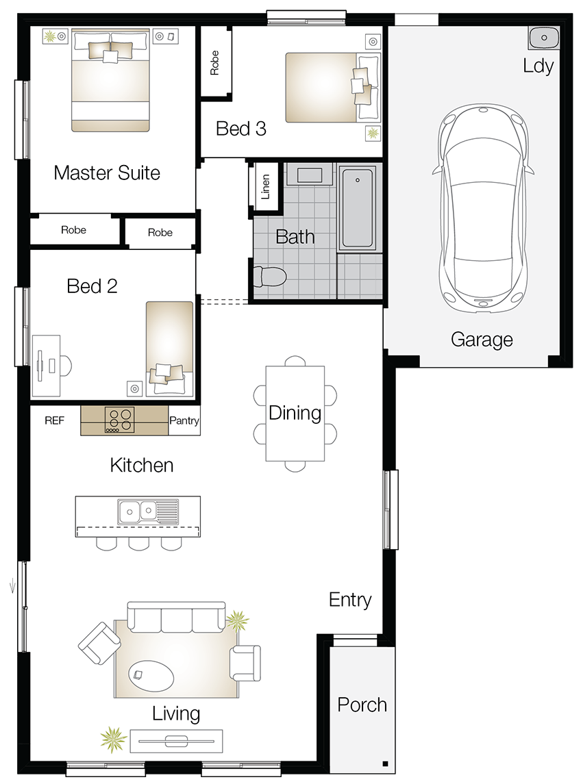 Highbury – Single Storey Floor Plan Upgrade - Wilson Homes
