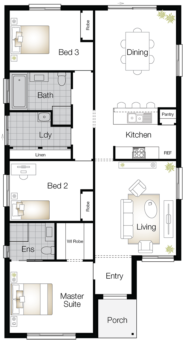 Jamison One – Single Storey Floor Plan - Wilson Homes