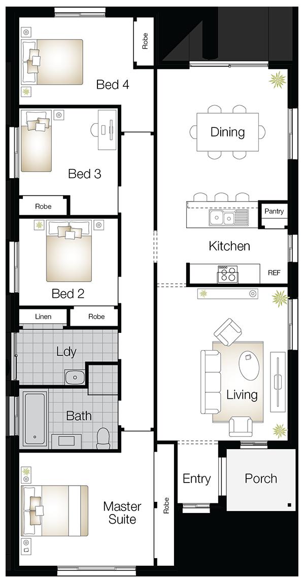 Jamison Two – Single Storey Floor Plan - Wilson Homes