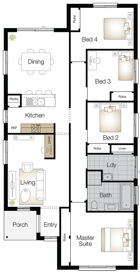 Jamison Two – Single Storey Floor Plan Upgrade - Wilson Homes