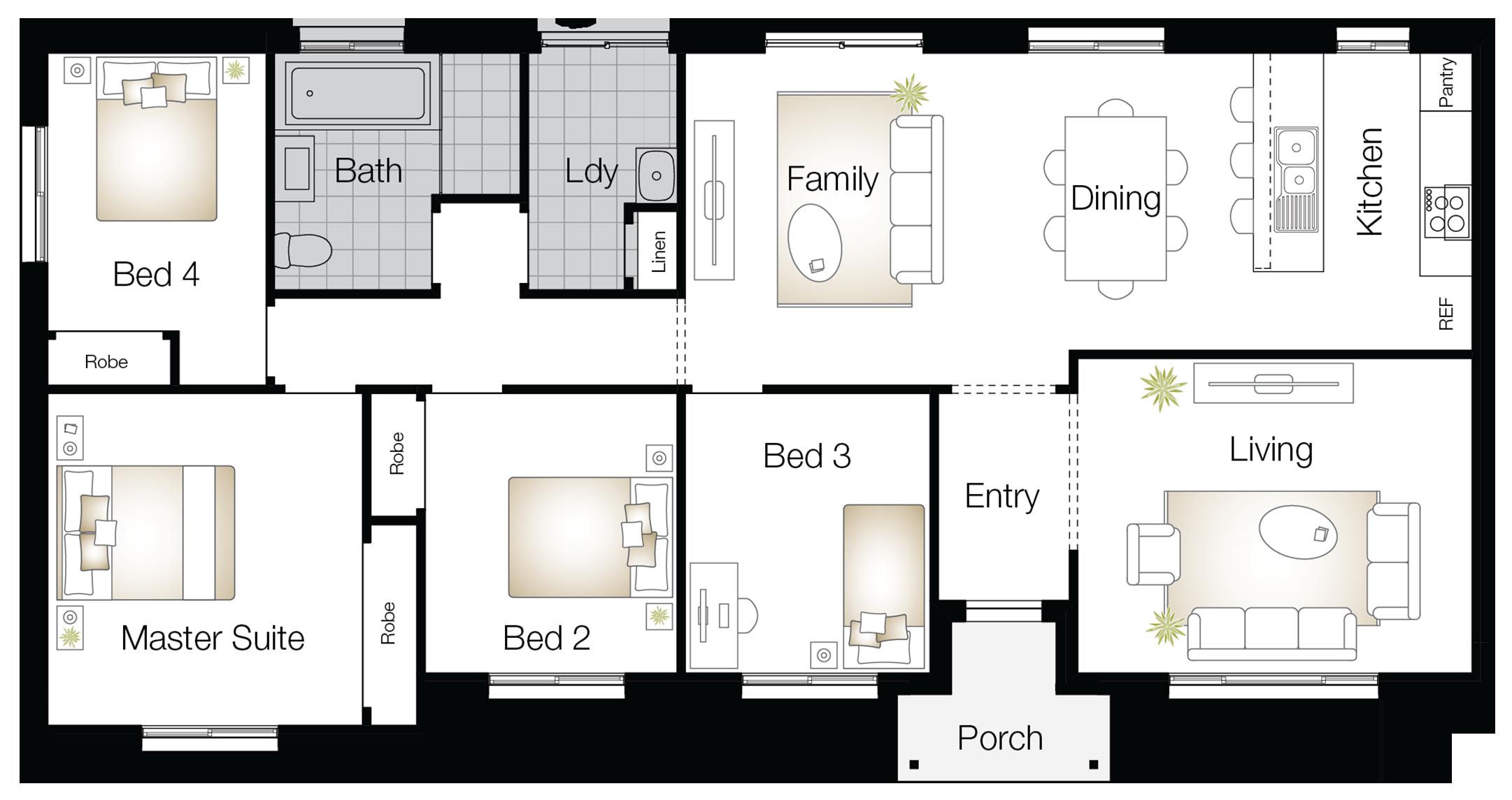 Kingston One – Single Storey Floor Plan - Wilson Homes