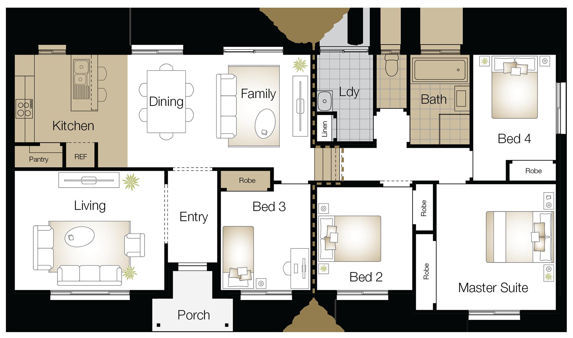 Kingston One – Single Storey Floor Plan Upgrade - Wilson Homes