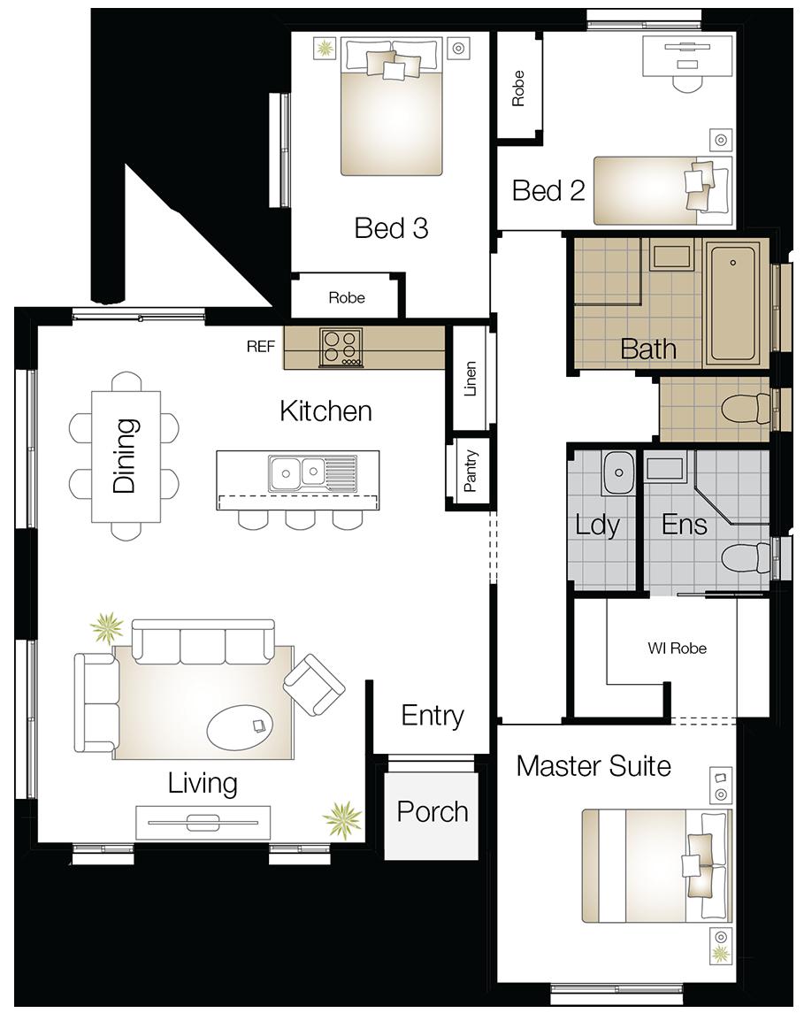 Monash Two  – Single Storey Floor Plan Upgrade - Wilson Homes