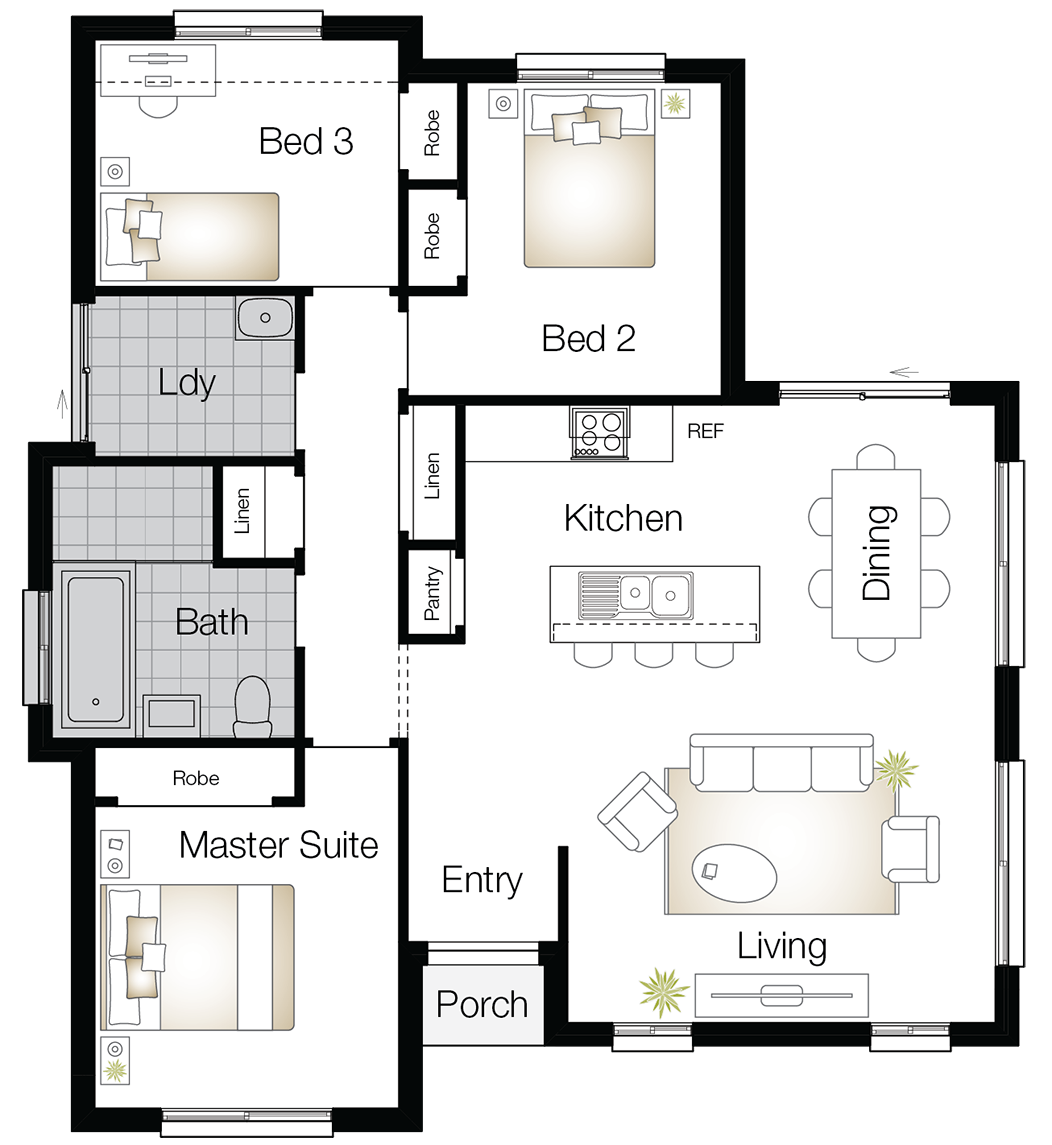 Monash One – Single Storey Floor Plan - Wilson Homes