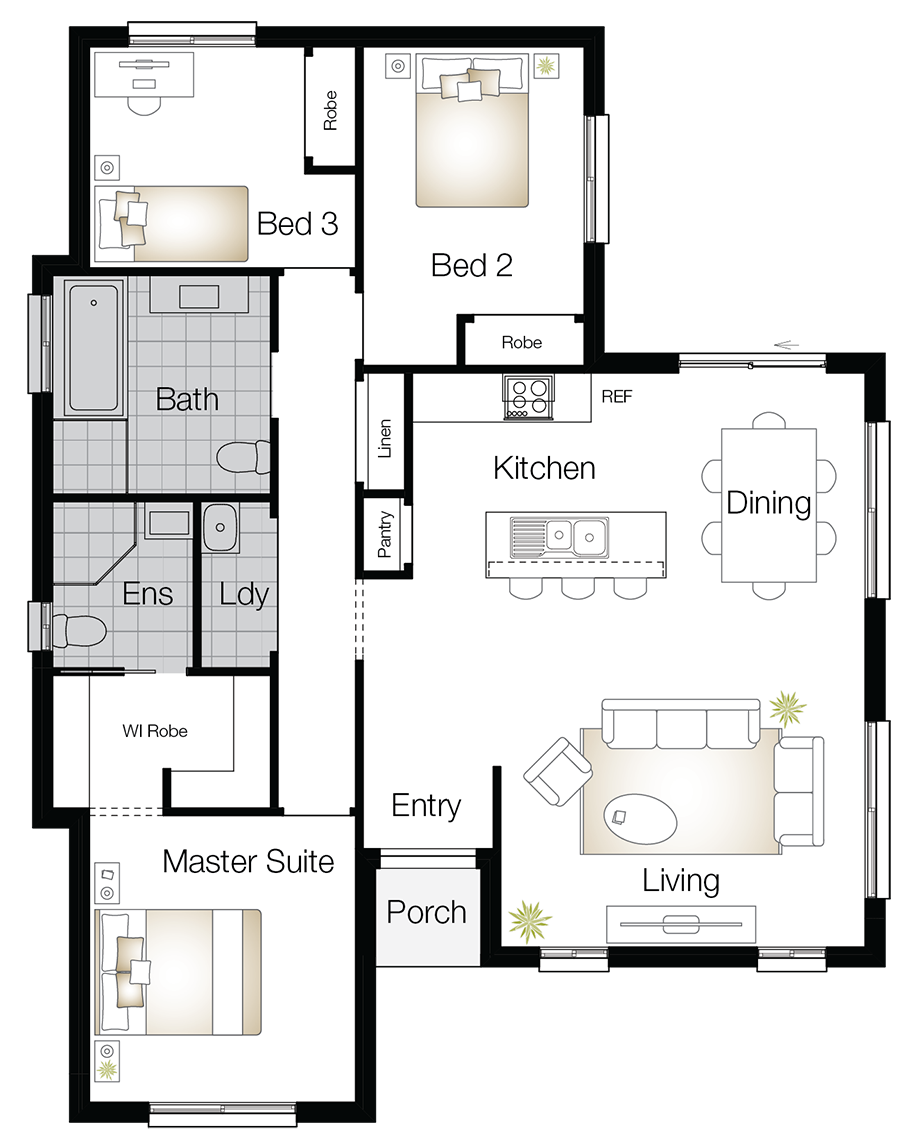 Monash Two – Single Storey Floor Plan - Wilson Homes